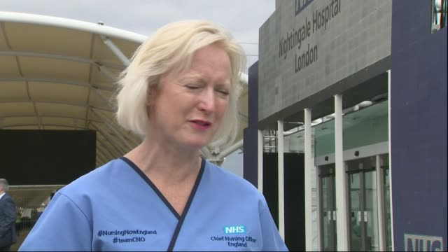 public urged to observe uk lockdown as two nurses die england london docklands nightingale hospital london / excel centre ext ruth may interview sot... - death stock videos & royalty-free footage