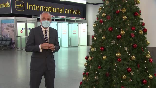 quarantine rules for travellers arriving in england to change in mid-december; england: west sussex: gatwick airport: north terminal: ext jonathan... - west sussex stock videos & royalty-free footage