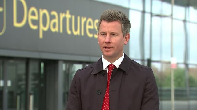 quarantine rules for travellers arriving in england to change in middecember england london gatwick airport ext jonathan pollard interview sot - itv lunchtime news stock videos & royalty-free footage
