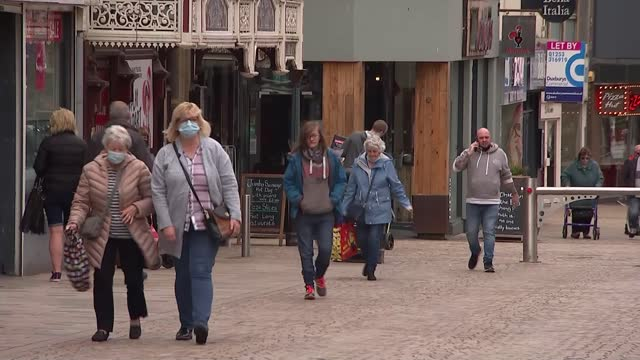 return of live entertainment following easing of lockdown restrictions; england: lancashire: blackpool: ext andy j, the blind busker, performing on... - sea stock videos & royalty-free footage