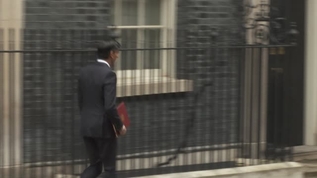 rishi sunak announces measures aimed at reducing job losses as furlough scheme ends england london westminster downing street ext rishi sunak mp from... - furlough stock videos & royalty-free footage