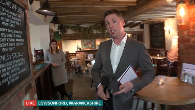risk of crisis to small businesses; england: london: gir: int live studio nina hossain to camera sot warwickshire: lowsonford: live ben chapman to... - report produced segment stock videos & royalty-free footage