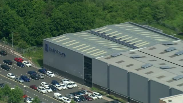 rolls-royce to cut at least 9,000 jobs amid aviation crisis; england: derbyshire: derby: ext air view rolls-royce plant - rolls royce stock videos & royalty-free footage