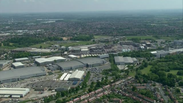 rolls-royce to cut at least 9,000 jobs amid aviation crisis; england: derbyshire: derby: ext air view rolls-royce plant - aerospace stock videos & royalty-free footage