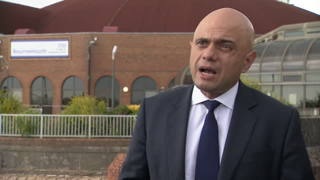 sajid javid visits vaccination centre in bournemouth; england: dorset: bournemouth: ext sajid javid mp interview sot. - today we have an opportunity... - 16 17 years stock videos & royalty-free footage