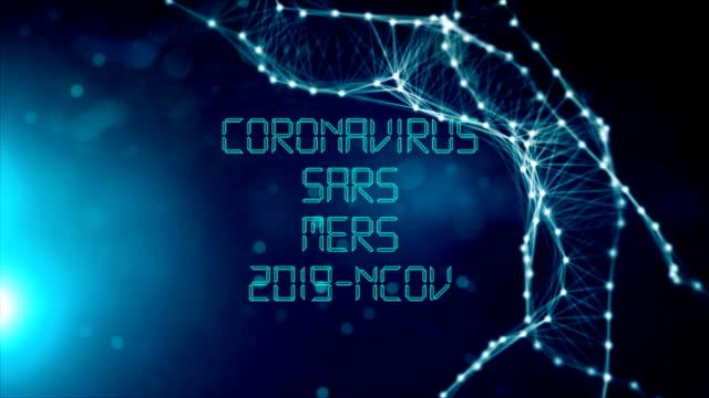 coronavirus, sars, mers, 2019-ncov title animation - disease vector stock videos & royalty-free footage