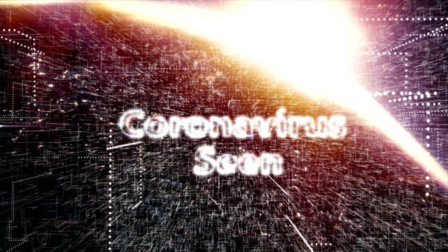 coronavirus, sars, mers, animazione del titolo 2019-ncov - vettore della malattia video stock e b–roll