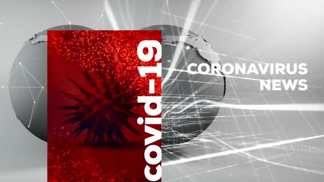 vídeos de stock, filmes e b-roll de coronavirus, sars-cov-2, covid-19, 2019 ncov breaking news background - jornal