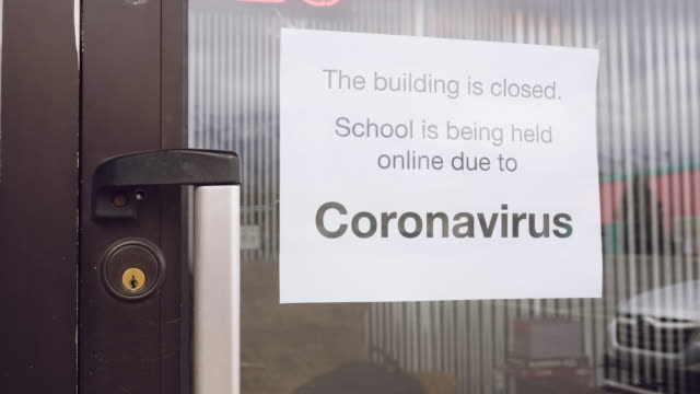 covid-19 coronavirus school closed - education stock videos & royalty-free footage