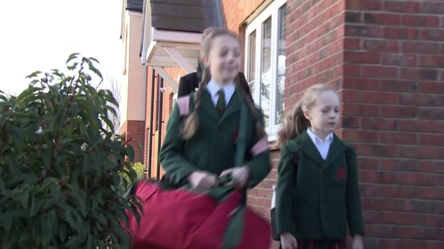 schools introduce stricter measures to combat spread of virus; uk; schoolchildren having their temperatures checked, children washing their hands,... - birthday stock videos & royalty-free footage