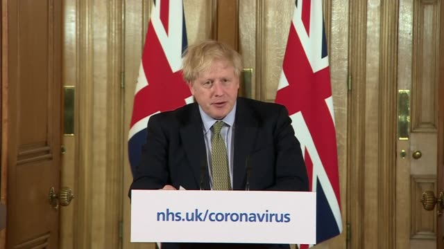 schools to shut from friday as uk coronavirus deaths reach 100; england: london: westminster: downing street: int boris johnson mp press conference... - press conference stock videos & royalty-free footage