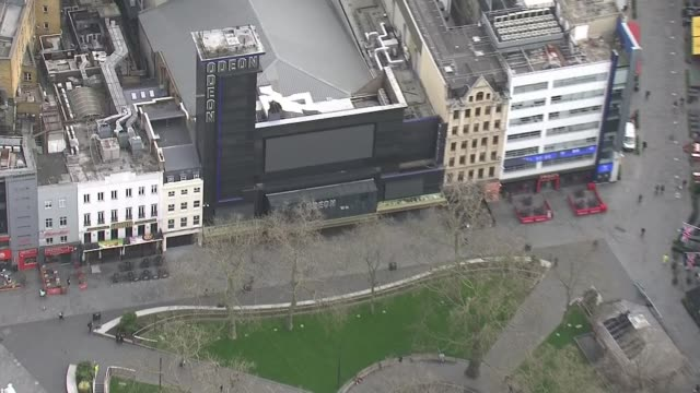 scientists call for governments to adopt app capable of identifying infected people england london views / aerials deserted trafalgar square / empty... - applicazione mobile video stock e b–roll
