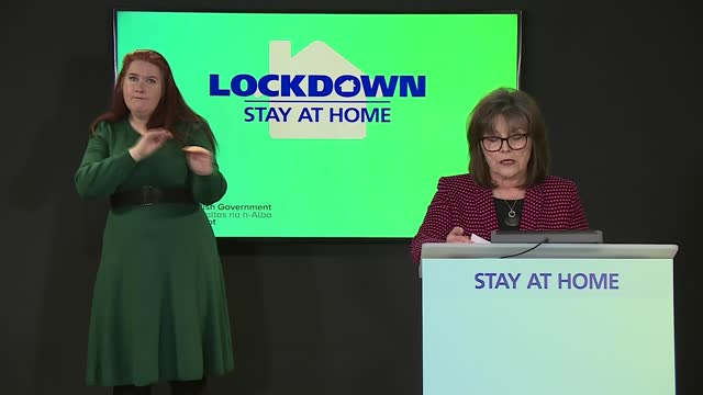 scotland press conference march 3rd; scotland: edinburgh: st andrew's house: int jeane freeman press conference opening statement sot - but even so... - addition key stock videos & royalty-free footage
