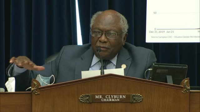 coronavirus select investigative subcommittee chairman jim clyburn of south carolina quotes martin luther king at a hearing with white house... - bible stock videos & royalty-free footage