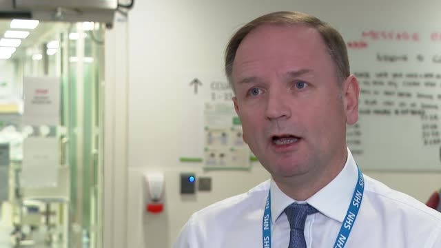 simon stevens at kings college hospital and interview england london kings college hospital int simon stevens interview sot q on ons figures... - patient stock videos & royalty-free footage