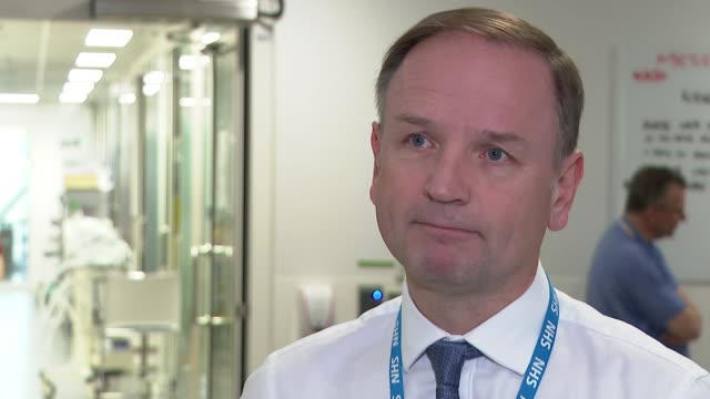 simon stevens at kings college hospital and interview; england: london: kings college hospital: int simon stevens interview sot q: on what he has... - mountain peak stock videos & royalty-free footage