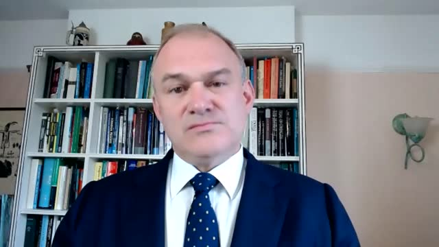 sir ed davey interview; england: dorset : int sir ed davey mp interview sot. q: young people will be offered free taxi rides, free pizza, free... - new mexico stock videos & royalty-free footage