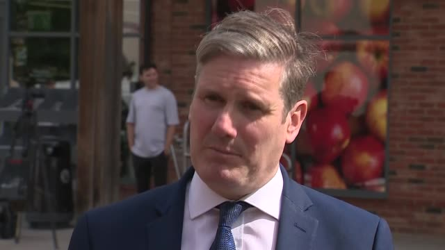 sir keir starmer interview england buckinghamshire milton keynes ext keir starmer mp interview sot q what doing in mk in milton keynes to hear about... - face down stock videos & royalty-free footage