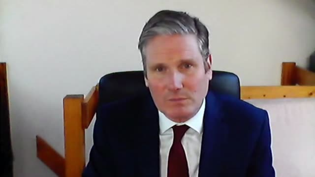 sir keir starmer interview; england: london: int sir keir starmer mp 2 way interview via internet sot - re constructive opposition to government... - keir starmer stock videos & royalty-free footage