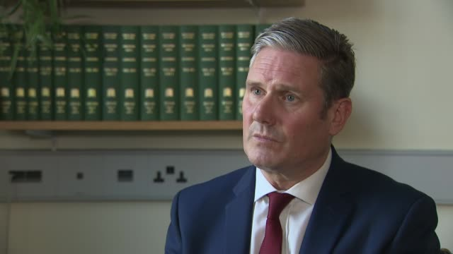 sir keir starmer interview; england: london: westminster: int sir keir starmer mp interview sot. - i'm deeply concerned by the infection rate, and by... - co ordination stock videos & royalty-free footage