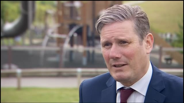 sir keir starmer meets care workers / interview england nottinghamshire cafe 1899 gedling country park ext sir keir starmer mp interview sot it's... - choosing stock videos & royalty-free footage
