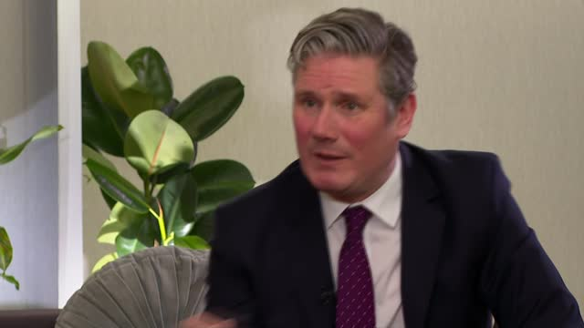 sir keir starmer sets out vision for post-covid britain; part 2 of 2 england: london: int sir keir starmer mp interview sot - but you can only have... - partnership stock videos & royalty-free footage
