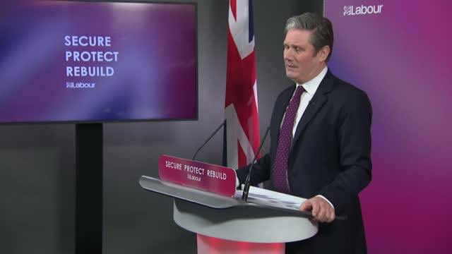 sir keir starmer sets out vision for post-covid britain: press conference alternative angle; clip 5 of 8 england: london: westminster: labour party... - colleague stock videos & royalty-free footage