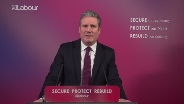 sir keir starmer sets out vision for post-covid britain: speech; england: london: westminster: labour party headquarters: int sir keir starmer mp... - war and conflict video stock e b–roll