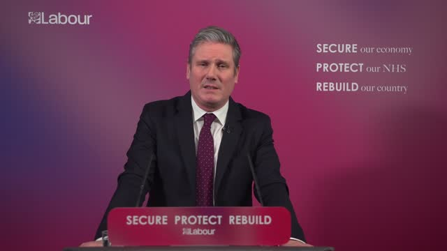 sir keir starmer sets out vision for post-covid britain: speech; england: london: westminster: labour party headquarters: int sir keir starmer mp... - rubble stock videos & royalty-free footage