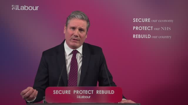 sir keir starmer sets out vision for post-covid britain: speech; england: london: westminster: labour party headquarters: int sir keir starmer mp... - new business stock videos & royalty-free footage