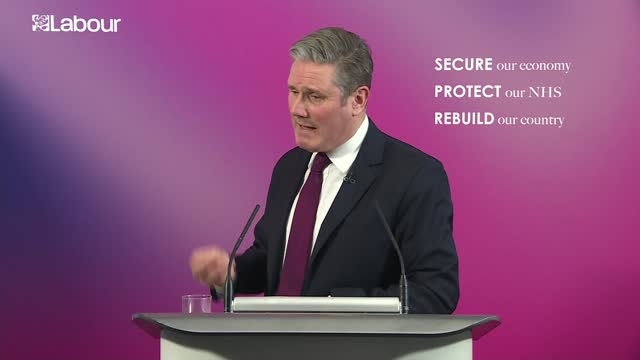 sir keir starmer speech and press conference; part 4 of 6 england: london: int sir keir starmer mp speech sot - and for the government finally to... - disrespect stock videos & royalty-free footage