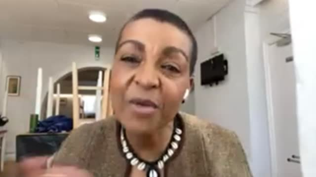 sir lenny henry urges black britons to take vaccine in new campaign; location unknown : int adjoa andoh interview via internet sot. - lenny henry stock videos & royalty-free footage