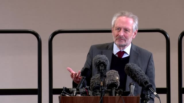 sir peter soulsby and ivan browne press conference; england: east midlands: leicester: int ivan browne answering questions at press conference sot. -... - ridge stock videos & royalty-free footage