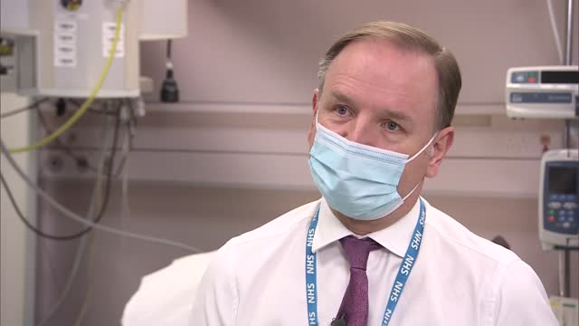 sir simon stevens interview; part 1 of 2 england: coventry: coventry university hospital: int sir simon stevens interview sot - on success of... - dose stock videos & royalty-free footage