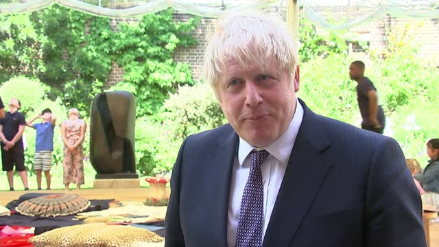 speculation around lockdown 'reopening' on june 21st; england: london: 10 downing street garden: ext boris johnson mp interview sot - [re likelihood... - frustration stock videos & royalty-free footage