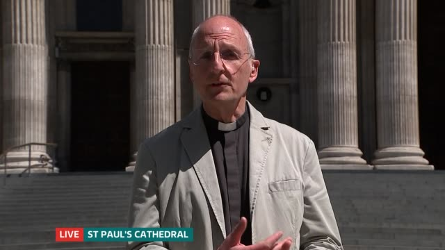 st paul's cathedral launch online book of remembrance to commemorate victims england london gir ext very reverend dr david ison live 2way interview... - church stock videos & royalty-free footage