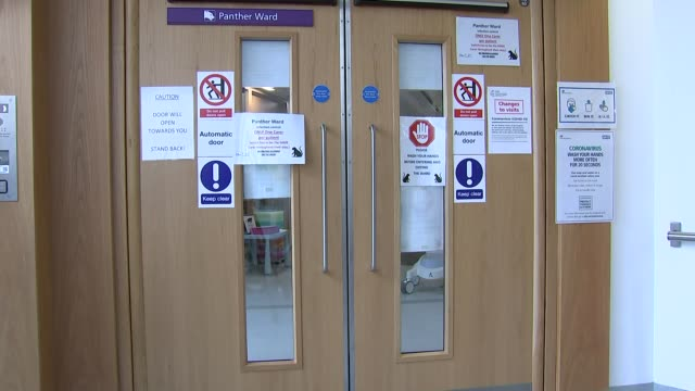 staff working at great ormond street hospital england london great ormond street hospital int gv double doors and sign 'panther ward' and various... - ward stock videos & royalty-free footage