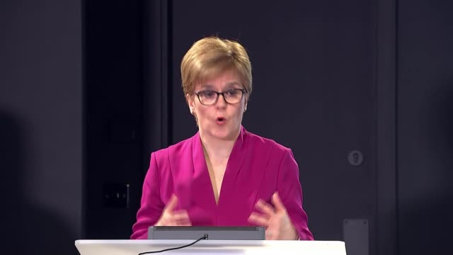 sturgeon urges social distancing as government announces new measures scotland int nicola sturgeon msp statement sot i think some of the discussions... - group of animals stock videos & royalty-free footage