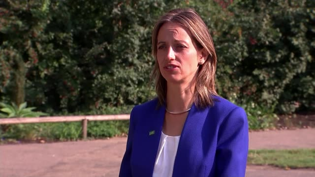 support service cuts having devastating impact on people with learning disabilities charity warns england ext helen whately mp interview sot - politics stock videos & royalty-free footage