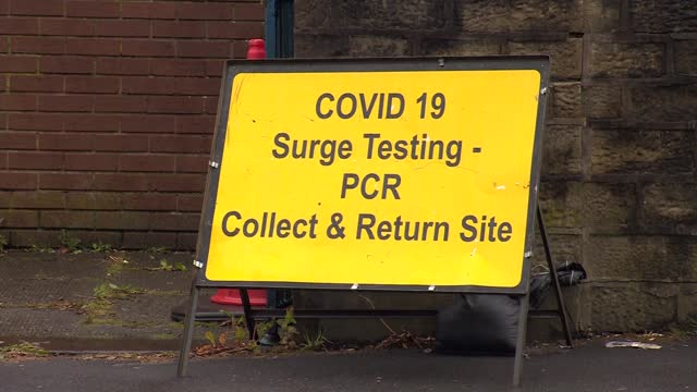 surge in number of cases of indian variant of covid-19; england: lancashire: blackburn: ext various of revidge fold church being used as a covid-19... - england stock videos & royalty-free footage