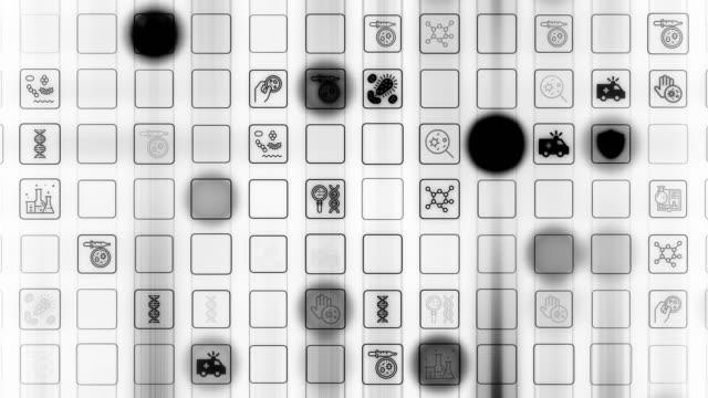 coronavirus symbols - disease vector stock videos & royalty-free footage