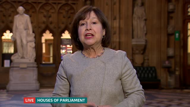 teachers and students react to gcse and a-level exam cancellations; england: london: gir: int presenter to camera westminster: houses of parliament... - 一般教育証明試験点の映像素材/bロール