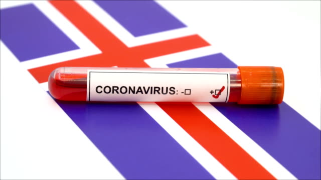 coronavirus test and icelandic flag - iceland stock videos & royalty-free footage