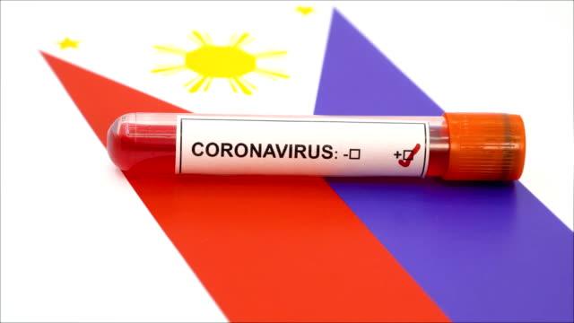 coronavirus test and philippines flag flag - philippines flag stock videos & royalty-free footage