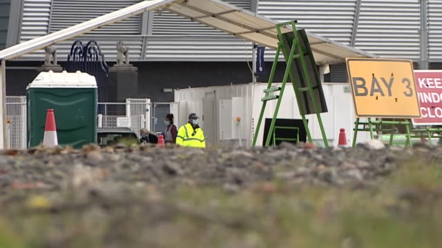 a coronavirus testing centre at edgbaston cricket ground - british military stock videos & royalty-free footage