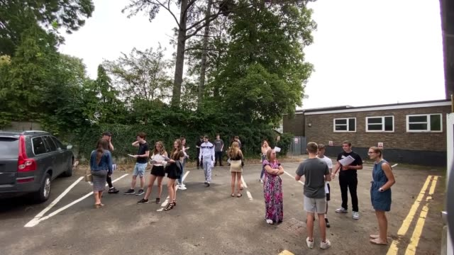 thousands of a level students have results downgraded england buckinghamshire chalfonts community college int students receiving alevel results... - politics stock videos & royalty-free footage