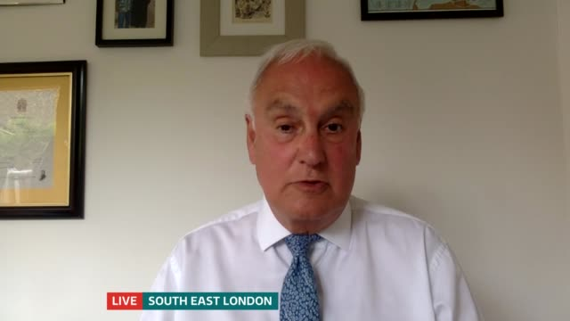 thousands of a level students have results downgraded england london gir int sir michael wilshaw live interview via internet sot - politics stock videos & royalty-free footage