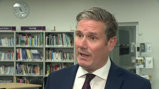 thousands of a level students have results downgraded england county durham darlington int sir keir starmer mp set up shots / interview sot - county durham england stock videos & royalty-free footage
