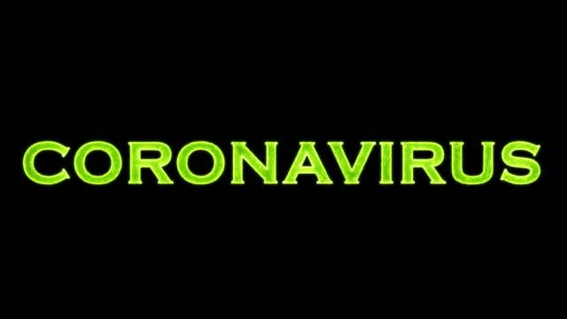 4k coronavirus title animation stock video covid-19 - salmonella stock videos & royalty-free footage