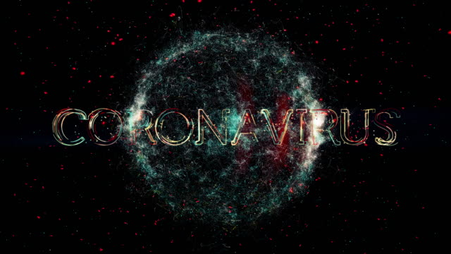 coronavirus title animation - virus organism stock videos & royalty-free footage